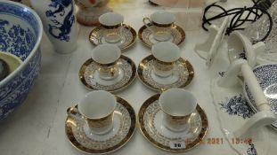 A part Czechoslovakian tea set