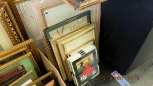 Five framed prints