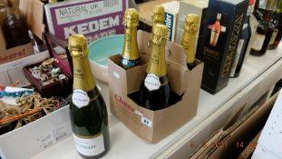 Five bottles of Brut Kosher champagne,