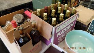 Fifteen bottles of Camel etc.