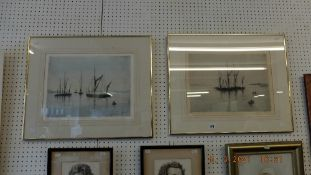 Two limited edition lithographs, seascapes,