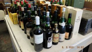 A qty of assorted alcohol