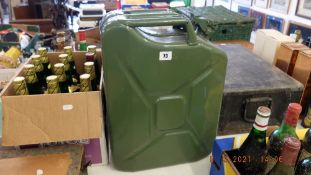 A 20 litre 'Jerry' can