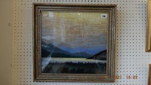 A framed and glazed pastel,