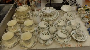 A Crown Staffordshire part dinner set plus another