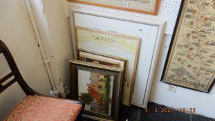 A qty of framed prints