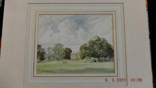 An unframed watercolour, Herlingham club,