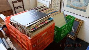 A large collection of LP's; Rock n Roll, Punk etc.