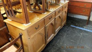 A good quality Rosewood side board,
