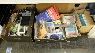 A box of electrical odds etc.