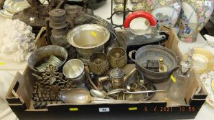 A qty of assorted Silver plated items