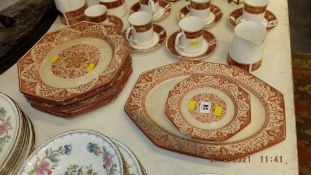 A qty of early Minton 'Denmark' plates, a.