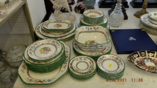 A qty of Copeland Spode, Chinese Rose china,