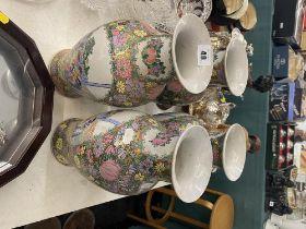 Four Canton vases