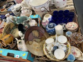 A qty of assorted china and glassware