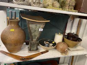 A qty of studio pottery