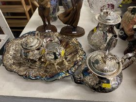 A qty of Silver plated items