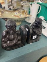 A pair of African bookends