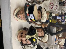 Five large Royal Doulton character jugs,