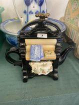 A designer tea pot,