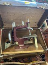 A miniature sewing machine, Essex,