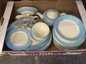 A qty of blue and white china etc.