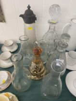 A small qty of glassware, decanters etc.