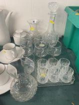 A qty of cut glass etc.