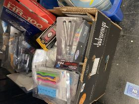 A box of electrical related items