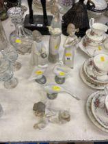 Seven Lladro figures