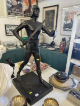 A Bronze soldier with sword,