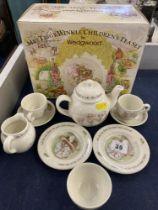 A Wedgewood ten piece Mrs Tiggy-Winkle children's tea set,