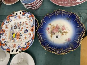 A set of three Limoges plates, and an early plate a.