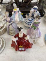 Five assorted figures inc.
