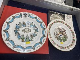 Two Spode plates,