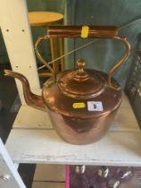 A large copper kettle