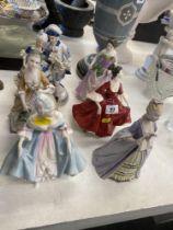 Six assorted figures inc.
