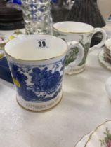 Two Coalport 'Fathers day' mugs,