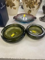 Two pieces of Murano glass and another