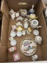 A qty of assorted miniature china