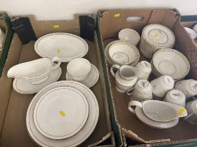 A Royal Worcester 'Contessa' part dinner set and a Royal Doulton 'White Nile' part dinner/ coffee