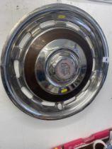 A Rolls Royce hub cap