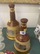Two Bells Whisky bottles,