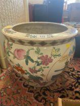 A decorative fish bowl,