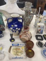 A Porcelain and gilt Grecian vase poss.