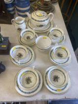 A Wedgewood Appledore six place part tea set