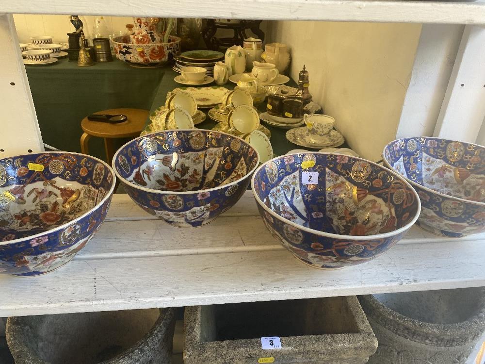 Four Imari style fruit bowls - Bild 2 aus 3