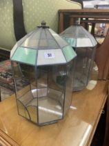 A pair of glass Terrariums