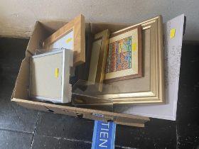 A qty of photo frames