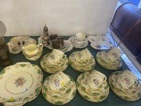 A 12 place Crown Staffordshire tea set, inc.